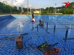 thi công bể bơi