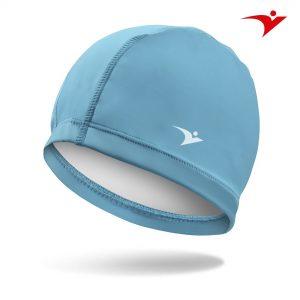 mũ bơi màu xanh nhạt